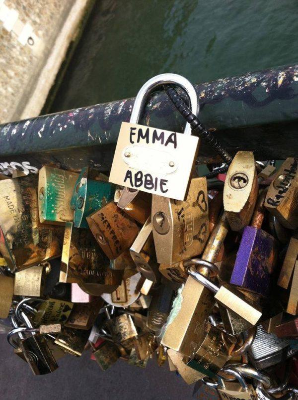 Emma Zack @ Love Lock Bridge, Paris