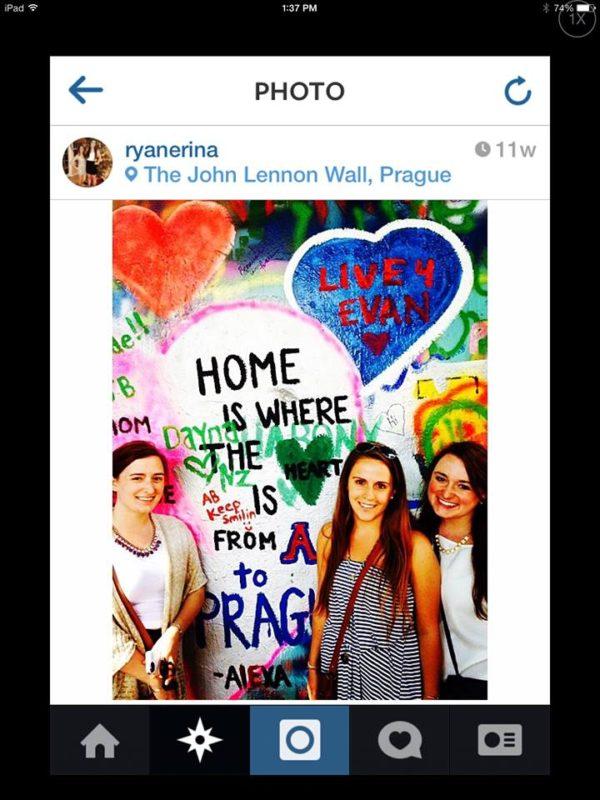 Erin Ryan @ John Lennon Wall, Prague