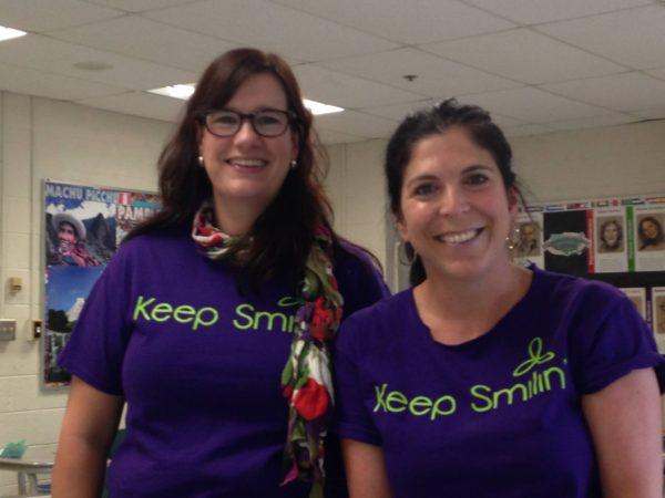 Becky Abate & Sara Kirshenbaum @ Hopkinton Middle School.