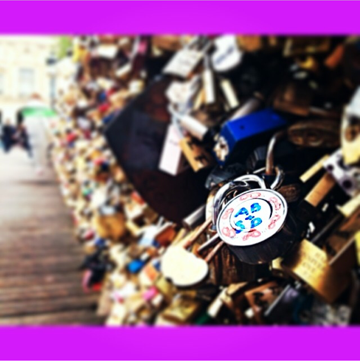 Steph Puig @ Love Lock Bridge, Paris